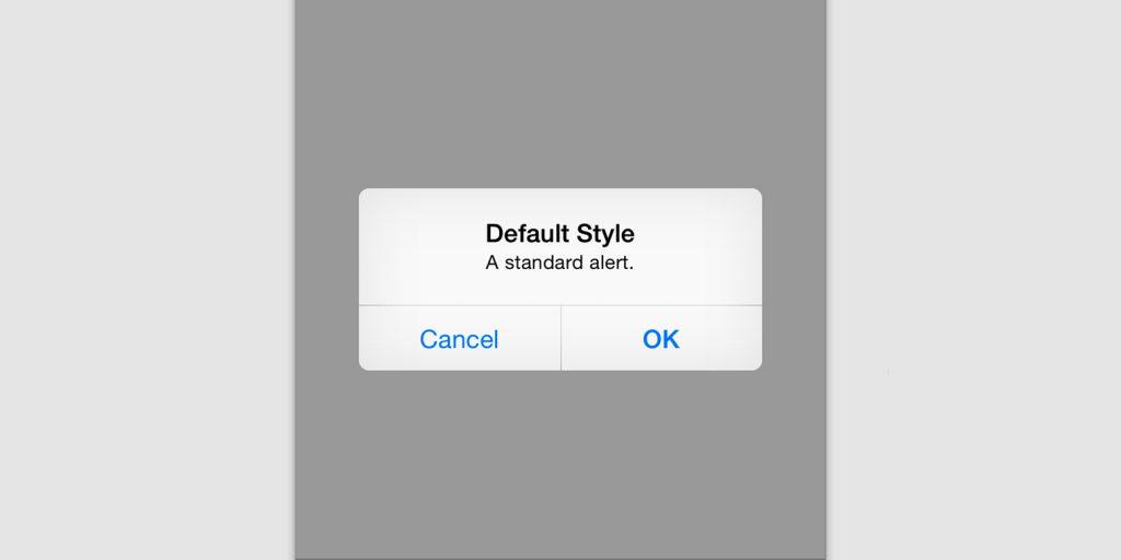 OK/Cancel Dialog ของ iOS ตาม HIG