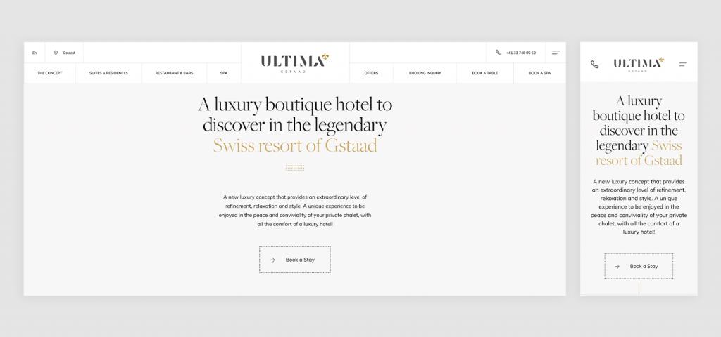 screenshot of ultimagstaad website